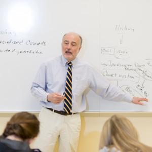 Professor in Albertus classroom