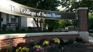 The College of Saint Rose Sign on Madison