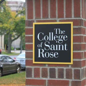 College of Saint Rose Sign