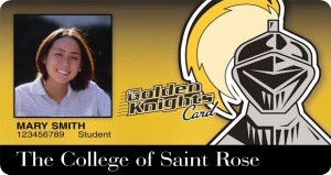 Golden Knights ID Card front