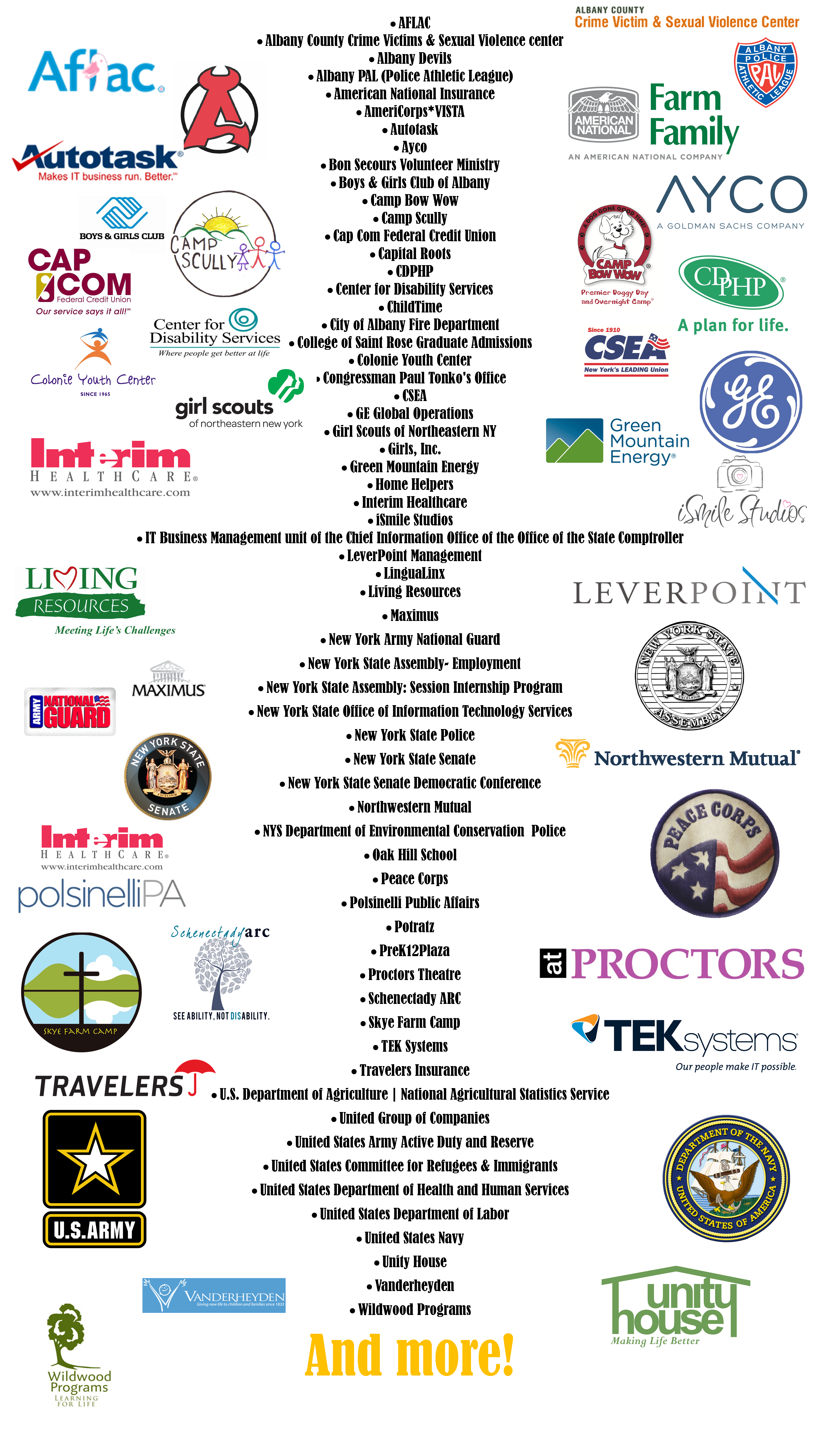 Employers the college of saint rose just a few examples of employers who have participated in the college of saint rose recruiting program falaconquin