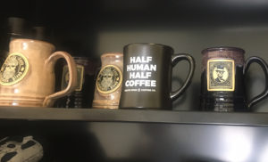 Half human. Half coffee.