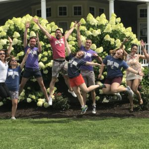 Summer Academy Staff jumping in excitement