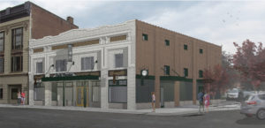A rendering of the Park Theater in Glens Fall, which Elizabeth Miller is renovating.