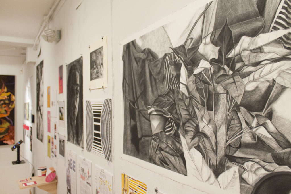 the art on display at the 2018 Undergraduate Art Show