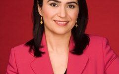 Portrait of former CNN international journalist Parisa Khosravi, Saint Rose's 2018 commencement speaker.