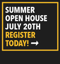Summer Open House July 20th Register Today