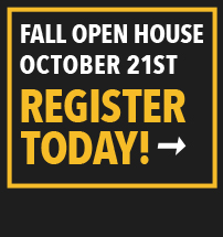 Fall Open House October 21st Register Today