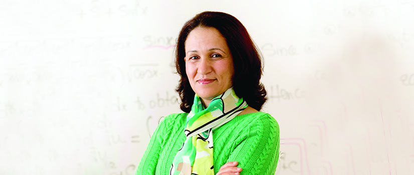 Dr. Amina Eladdadi, an associate professor of mathematics and Saint Rose graduate